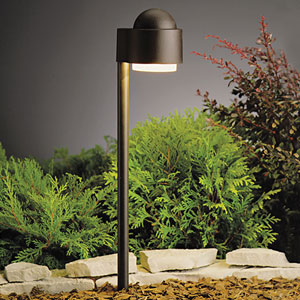 Textured Architectural Bronze 21-Inch One-Light Landscape Side Mount Path Light