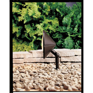 Six Groove Textured Architectural Bronze 6-Inch One-Light Landscape Accent Fixture