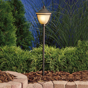 Textured Tannery Bronze 26-Inch One-Light Landscape Path Light