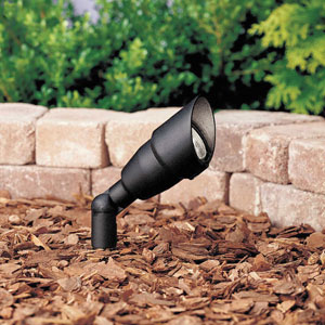 Textured Black 3-Inch One-Light Landscape Accent Fixture