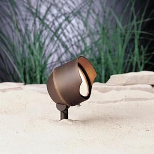 Cast Brass Bronzed Brass 4.5-Inch One-Light Landscape Accent Fixture