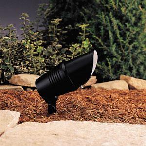 Black 3-Inch One-Light Landscape Accent Fixture