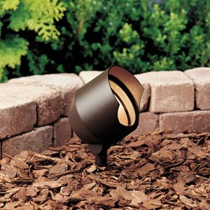 Textured Architectural Bronze 4.5-Inch One-Light Landscape Accent Fixture with Bulb