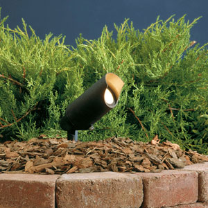 Textured Black 2.5-Inch One-Light Angled Landscape Accent Fixture