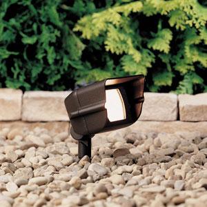Textured Architectural Bronze 6.5-Inch One-Light Landscape Accent Fixture