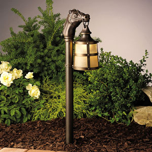 Olde Bronze 27-Inch One-Light Landscape Lantern Path Light
