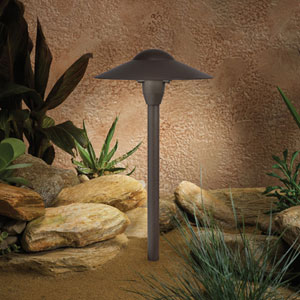 Textured Architectural Bronze 15-Inch One-Light Landscape Path Light
