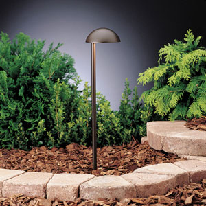 Eclipse Textured Architectural Bronze 19.5-Inch One-Light Landscape Path Light