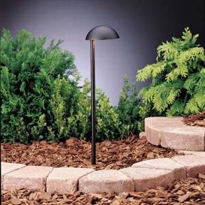 Eclipse Textured Black 19.5-Inch One-Light Landscape Path Light