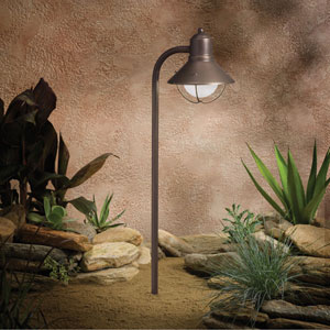 Seaside Olde Bronze 25.5-Inch One-Light Landscape Path Light