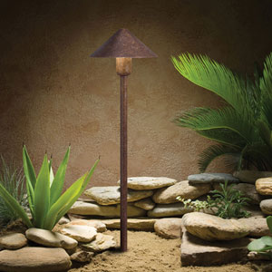 Textured Tannery Bronze 20.5-Inch One-Light Landscape Path Light