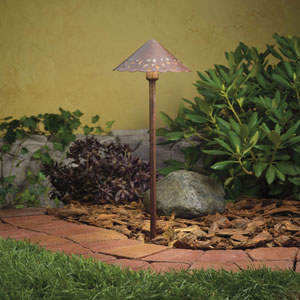 Lace Textured Tannery Bronze 22-Inch One-Light Landscape Path Light