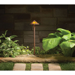 Textured Tannery Bronze 22.5-Inch One-Light Landscape Path Light