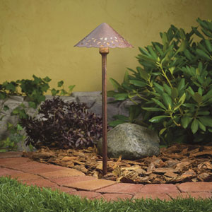 Textured Tannery Bronze One-Light Landscape Path Light