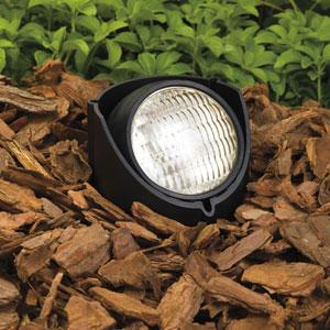 Black 6-Inch One-Light Landscape Accent Fixture