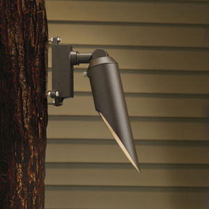Textured Architectural Bronze 2.5-Inch One-Light Elongated Landscape Down Accent Fixture