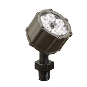 Bronzed Brass 3000 Kelvin Six-Light LED Flood Landscape Light