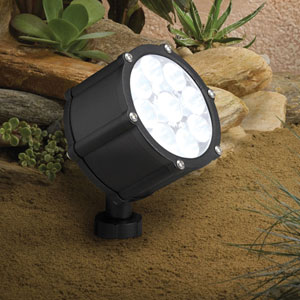 Textured Black 3000 Kelvin LED Spot Landscape Light
