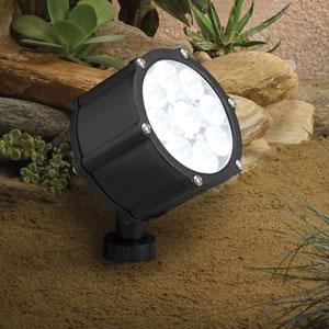 Textured Black 3000 Kelvin LED Spot Landscape Light