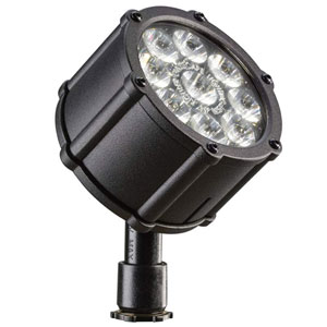 Textured Black 3000 Kelvin LED Wide Flood Landscape Light