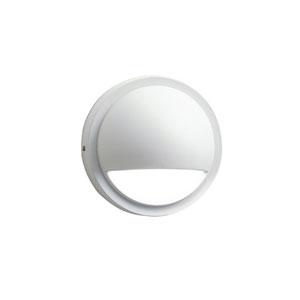 15764WHT27R Textured White 2700K Half Moon LED Deck Light