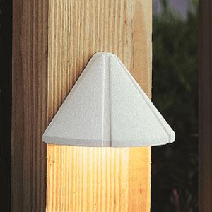 15765WHT27R White 2700K LED Deck Light