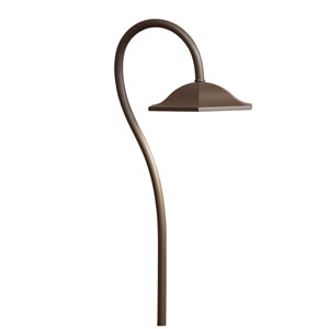 15807AZT27R Textured Architectural Bronze 2700K LED Path Light
