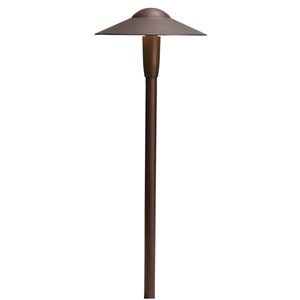 15810AZT27R Textured Architectural Bronze 2700K Dome LED Path Light
