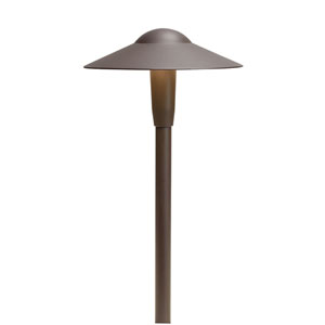 15811AZT27R Textured Architectural Bronze 2700K Short Dome LED Path Light