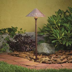 Textured Tannery Bronze 3000 Kelvin Three-Light LED Landscape Path Light