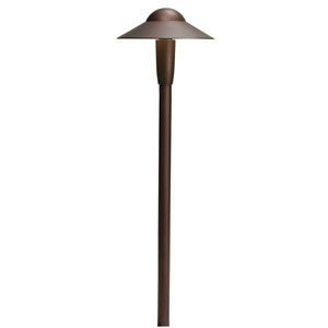 15870AZT27R Textured Architectural Bronze 2700K LED Dome Path Light