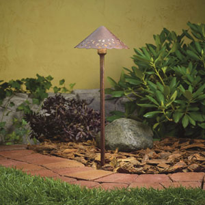 Textured Tannery Bronze 3000 Kelvin LED Landscape Path Light