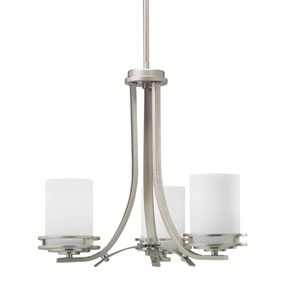 Hendrik Brushed Nickel Three-Light Mini Chandelier