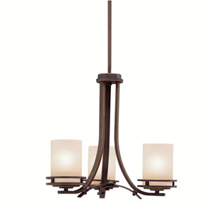Hendrik Olde Bronze Three-Light Mini Chandelier