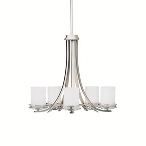 Hendrik Brushed Nickel Five-Light Chandelier