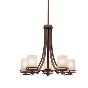 Hendrik Olde Bronze Five-Light Chandelier