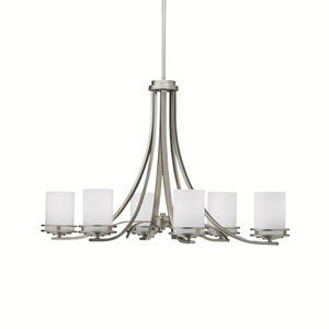 Hendrik Brushed Nickel Six-Light Chandelier