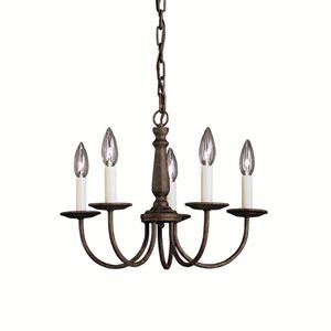 Salem Tannery Bronze Five-Light Chandelier
