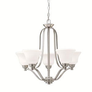 Langford Brushed Nickel Five-Light Chandelier