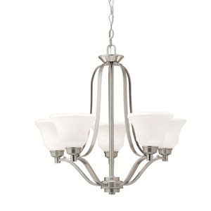 Langford Brushed Nickel 28-Inch Five-Light Energy Star Chandelier
