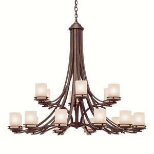 Hendrik Olde Bronze Two-Tier, Eighteen-Light Grande Chandelier