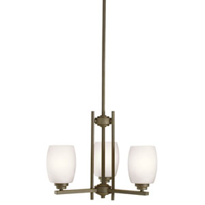 Eileen Olde Bronze Three-Light Chandelier