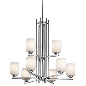 Eileen Chrome LED Nine-Light Chandelier