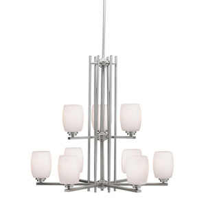 Eileen Brushed Nickel LED Nine-Light Chandelier