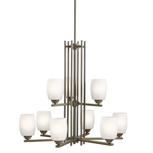 Eileen Olde Bronze Nine-Light Chandelier