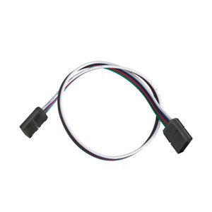 1IC12RGBBK Black 12-Inch LED Tape RGB Interconnect