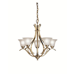Dover Antique Brass Five-Light Chandelier