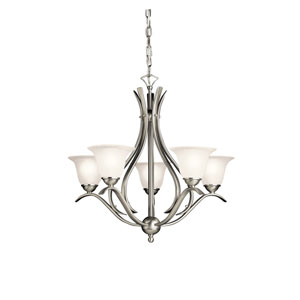 Dover Brushed Nickel Five-Light Chandelier