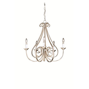 Dover II Five-Light Brushed Nickel Chandelier