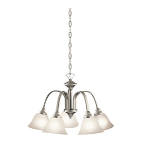 Hastings Brushed Nickel Five-Light Chandelier